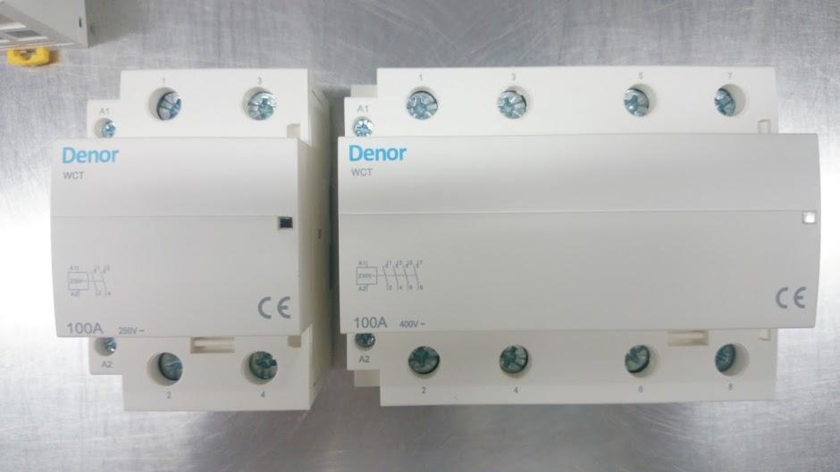100A 2P 4P Denor Modular Contactors
