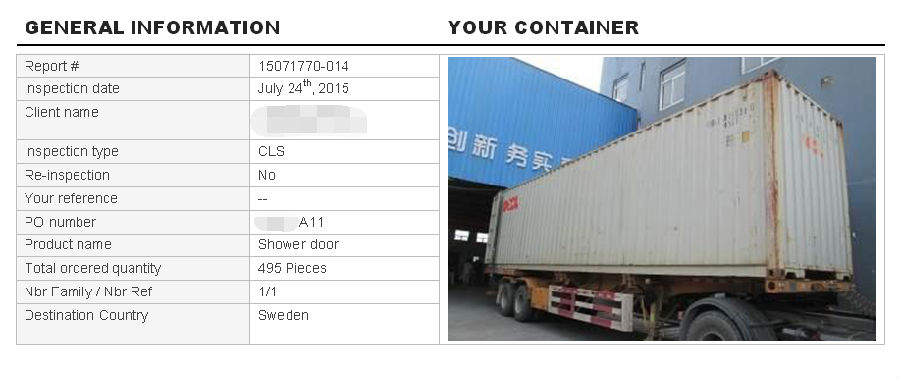 Container load in Denor factory