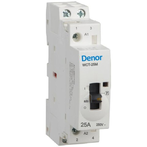 Denor Manually operated contactors WCT-25M 2 pole 16A 20A 25A