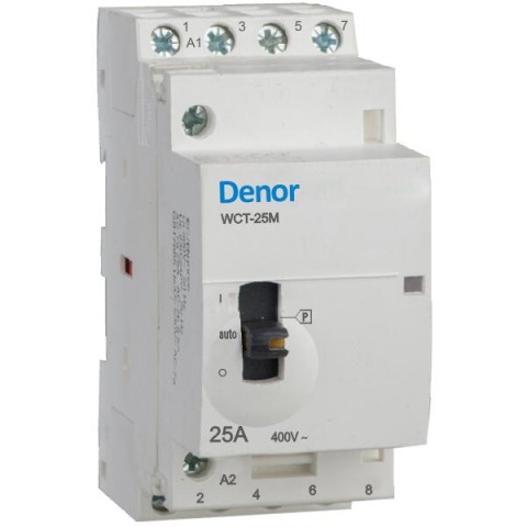 Denor Manually operated contactors WCT-25M 4pole 25A 20A 16A