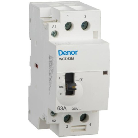 Denor Manually operated contactors WCT-63M 2pole 63A 40A 32A