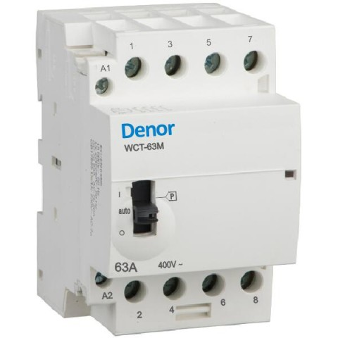 Denor Manually operated contactors WCT-63M 4pole 63A 40A 32A