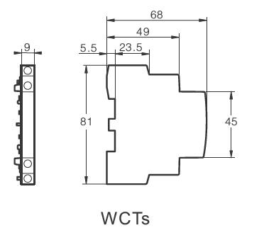 Dimensions for Auxiliary WCTs