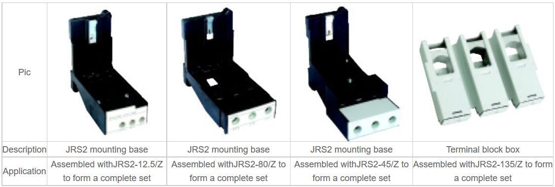 JRS2 mounting base Specifications