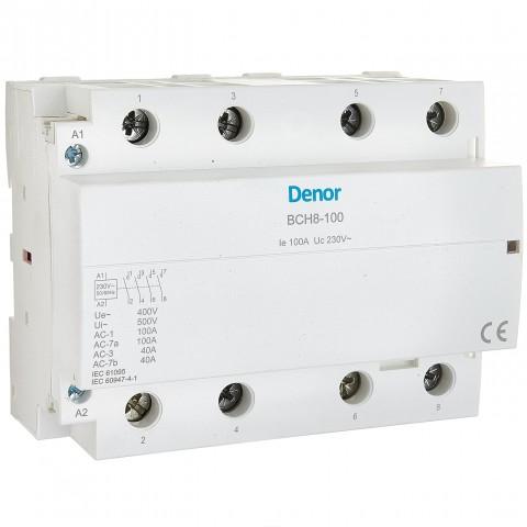 Modular Contactor BCH8-100 4P 4NO 100A