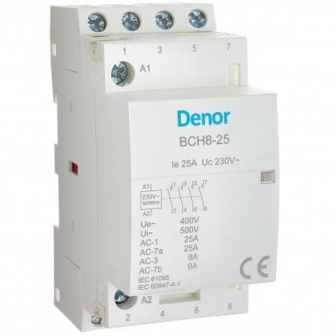 Modular Contactor BCH8-25 4P 4NO 25A 20A 16A