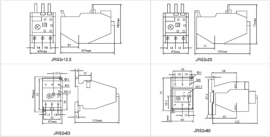 thermal overload relay 3ua    jrs2