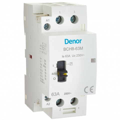 Manual Operated Modular Contactor BCH8-63M 2P 2NO 63A.