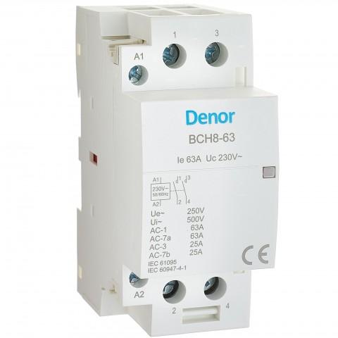 Modular Contactor BCH8-63 2P 63A 2NO 230Vac 50/60Hz