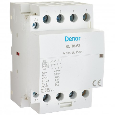 Modular Contactor BCH8-63 4P 4NO 63A